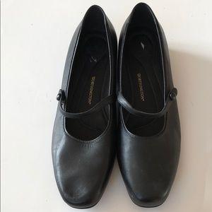 Worthington Black Shoes Size 12W Leather Career
